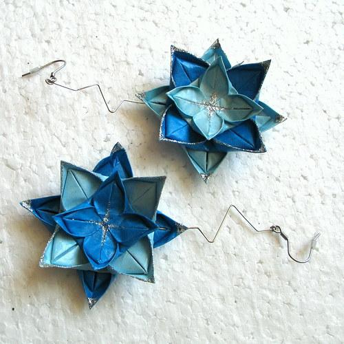 Přehlídkové origami náušnice