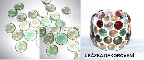Nugety sklo 17-20mm světlé zelené č.104- cca 45ks