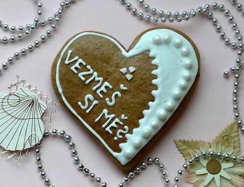 """Valentinské srdce s nápisem \""""Vezmeš si mě?\"""""""
