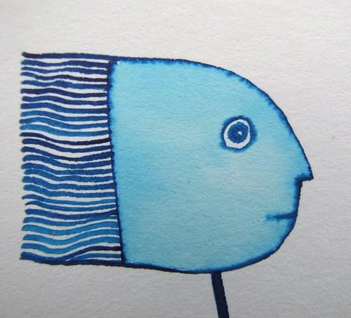 Rybář v modré