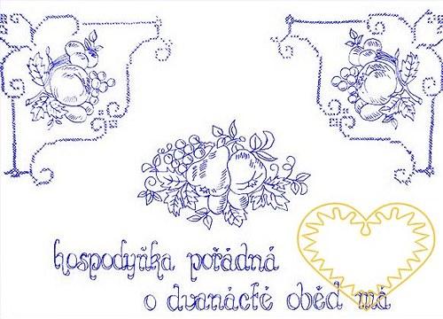 Nástěnná textilní kuchařka - Hospodyňka pořádná I.