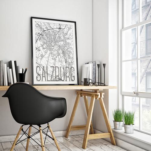 SALZBURG, 50x70cm, elegantní, bílý