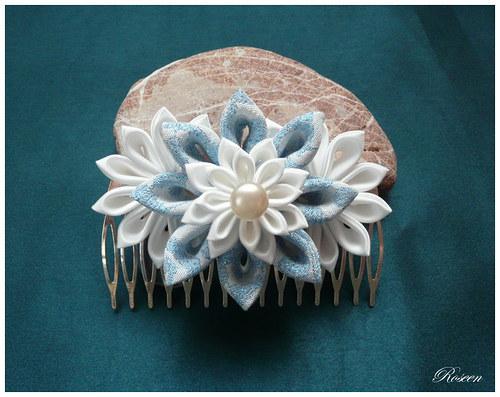 Modro-bílá záře ve vlasech SLEVA z 310 Kč