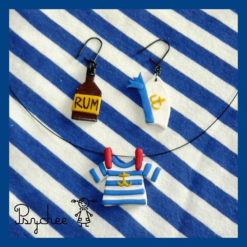 Námořnická sada - ideální šperky na vodu ,o)