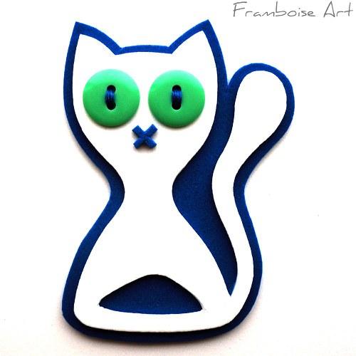 Bílo modrá kočka
