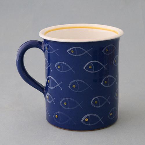 Hrnek s rybama - cca 0,7 litru