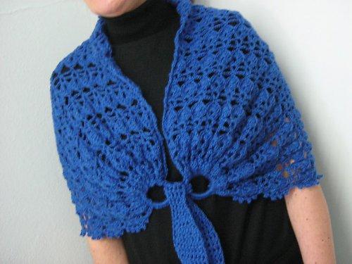 Háčkovaný wrap - poncho