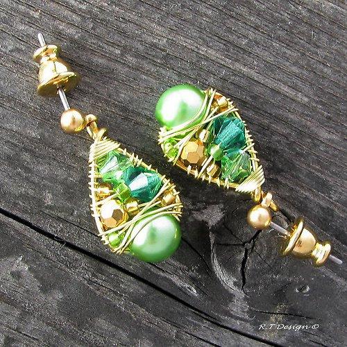 Náušničky Pistachio treasures...