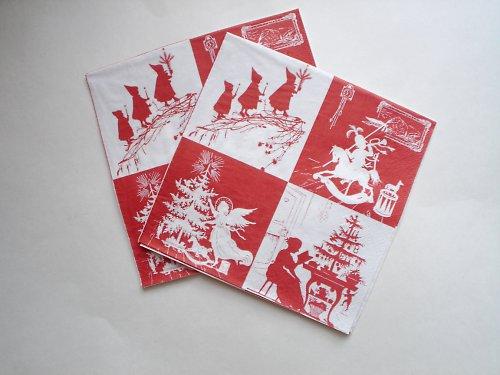 Vánoční obrázky, ubrousek
