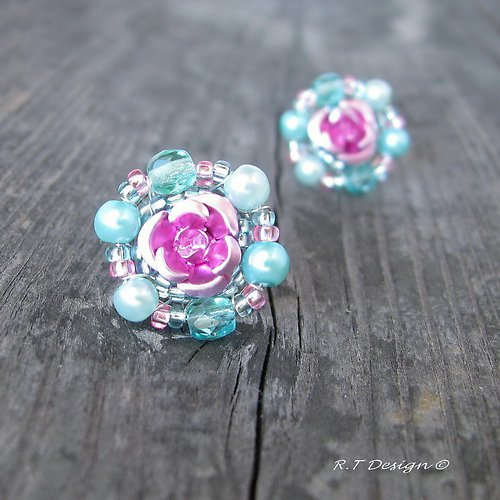 Náušničky Pastel Rose...