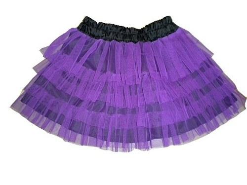 VERONICA - Tylová sukně v různých barvách