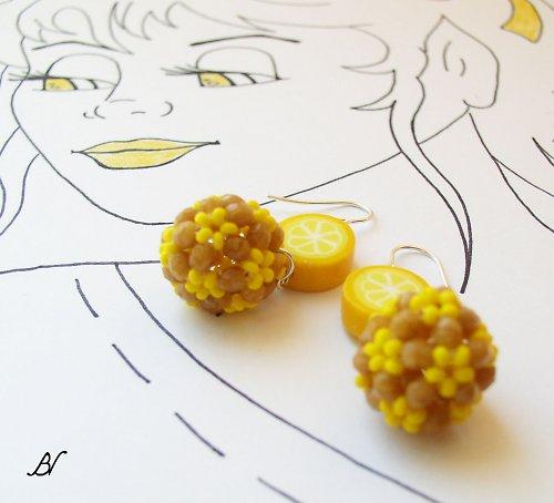 Citronové náušnice