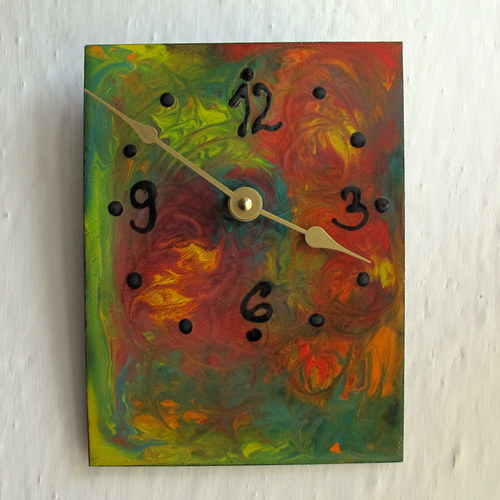 Smaltované hodiny - Ozvěny džungle 5