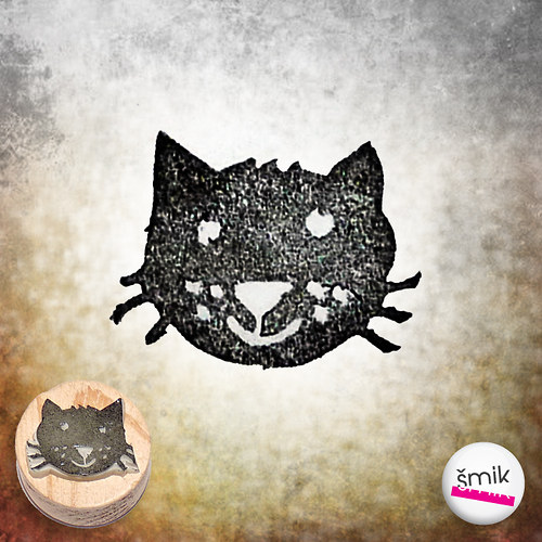 černá kočka – razítko
