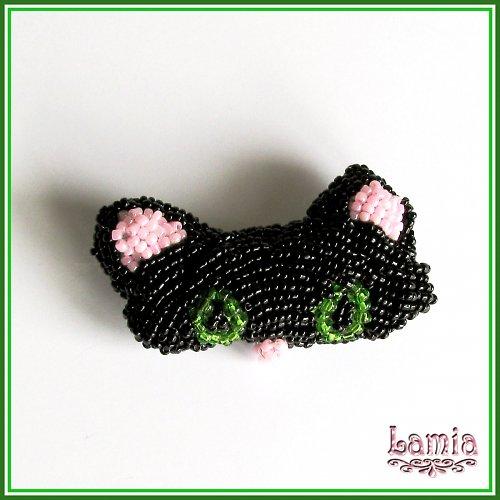 Černá kočka Zelenoočka
