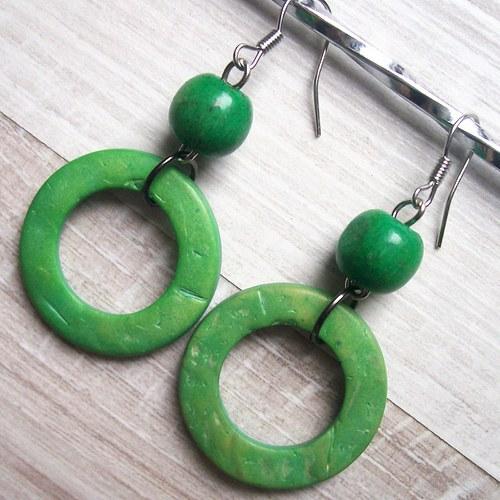 Dřevěné zelené kruhy_2416