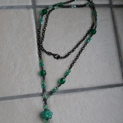 Zeleno-černý náhrdelník