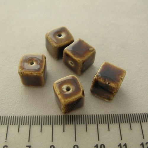keramická kostička čokoládová 12mm
