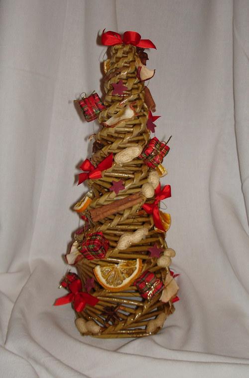 vánoční pletený stromeček