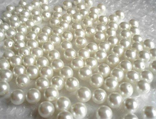 Perle bílý vosk 8mm