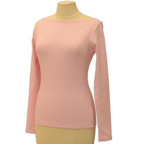 Růžové tričko belaroma dlouhý rukáv, lodičkový výs