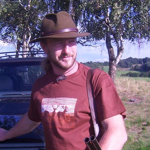 Tričko pro myslivce s jeleny - hnědé