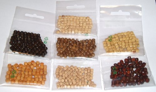 Korálky dřevěné - balení 5g - KRYCHLIČKY
