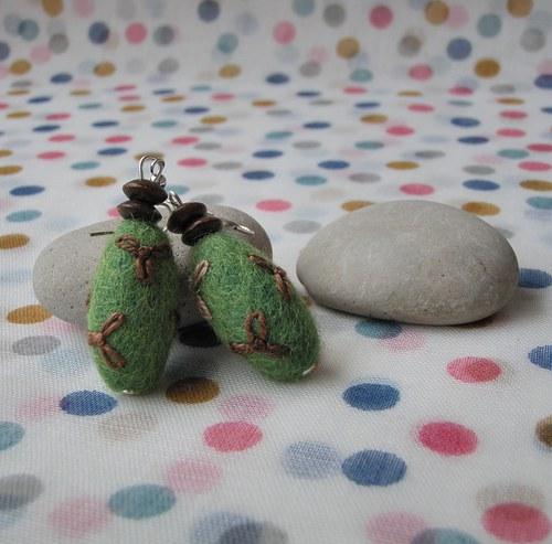 Plstěnky zeleno hnědé