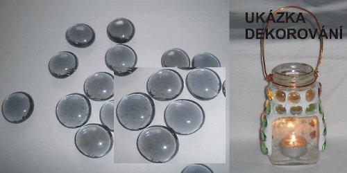 Nugety sklo 17-20mm fialové č.112- cca 45ks