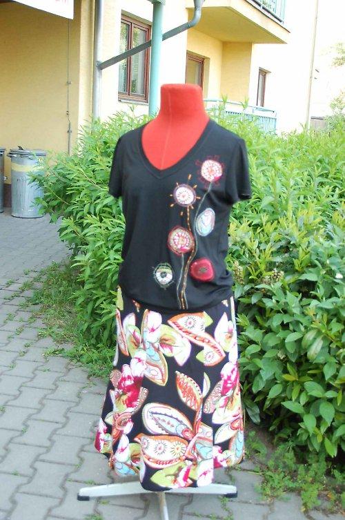 letní dvoudílné šaty  -vel.na přání