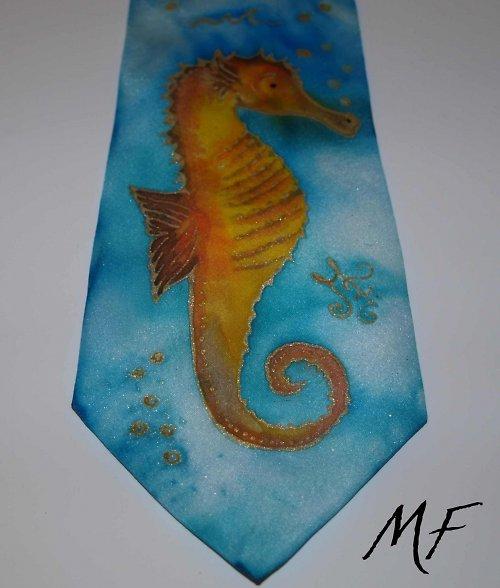 kravata Mořský koník