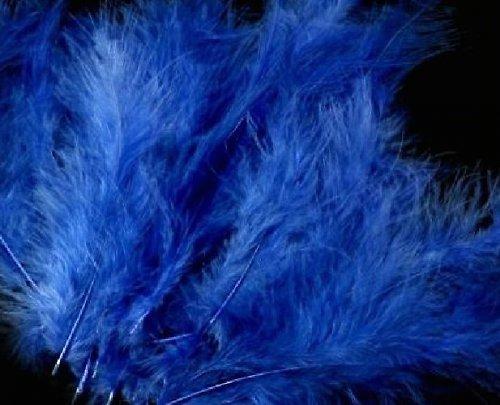 Ozdobné peří 12-17 cm: Tm. modré