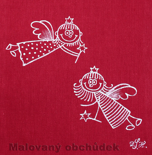 Malovaný Mikulášsko-vánoční pytlík s Andělkami