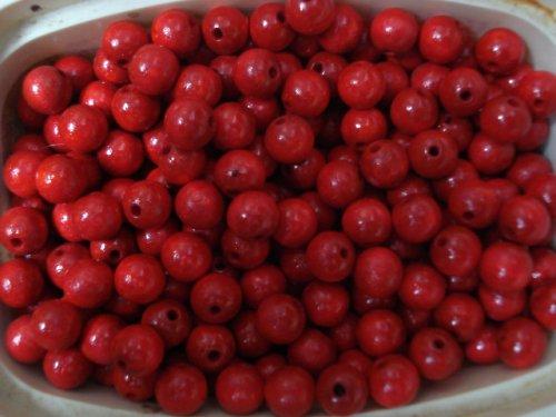 Korálky červené,dřevěné