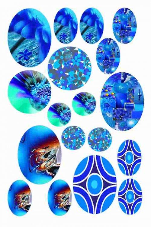mix motivů modrých 02
