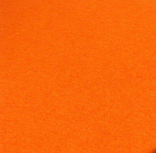 Plsť 20x30 cm, 1 ks, oranžová, gramáž 165 g/m2