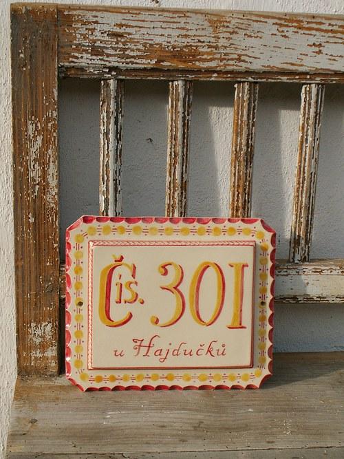 Replika keramického domovního čísla na zakázku