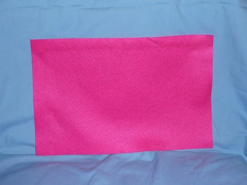 Filc Tmavě růžový 20x30cm