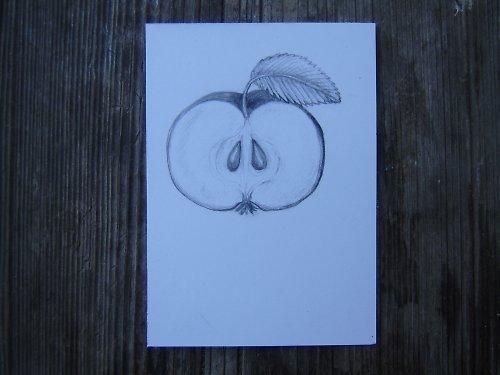 Obrázek jablíčka - přáníčko či svícínek