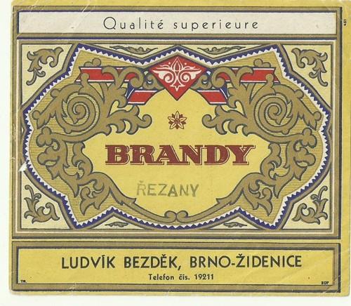 Etiketa Brandy Brno Židenice