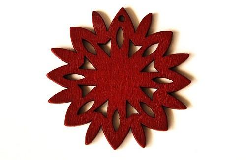 dřevěná sluníčka- červenohnědá