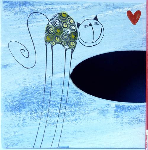 pelíšek pro trpaslíka - modrý s tulínky