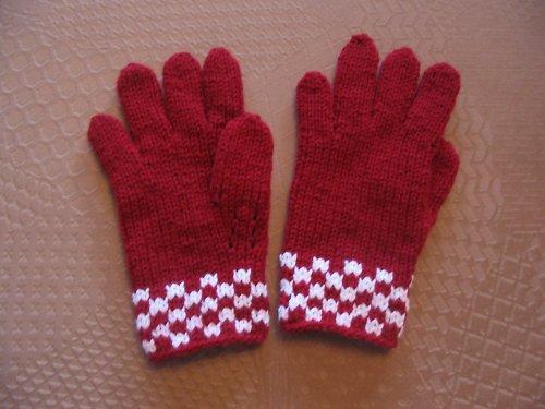 Dívčí prstové rukavice