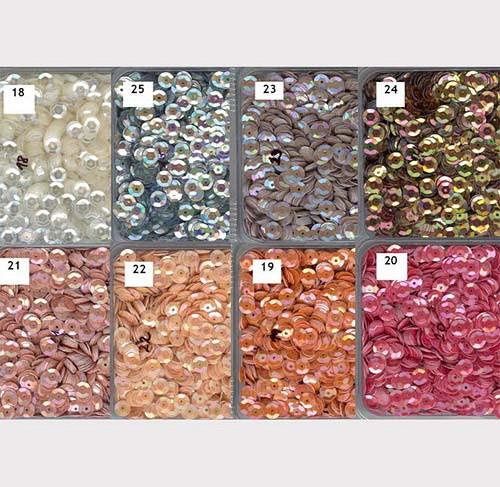 Flitry 6 mm  mix 8 barev  - miska 8x5g