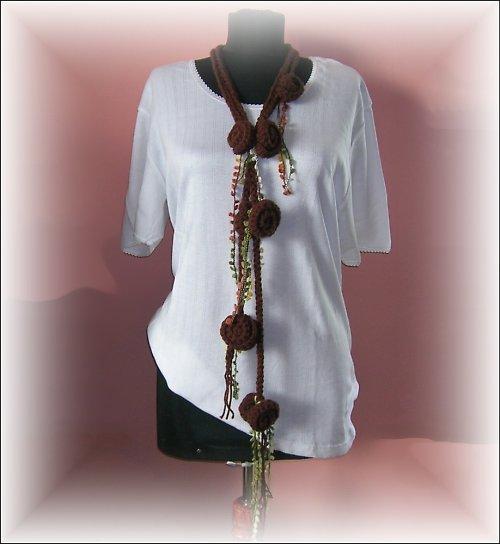 Háčkovaný ověs kolem krku, pasu..... ozdobné laso
