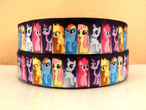 Stuha rypsová š.25 mm: My Little pony