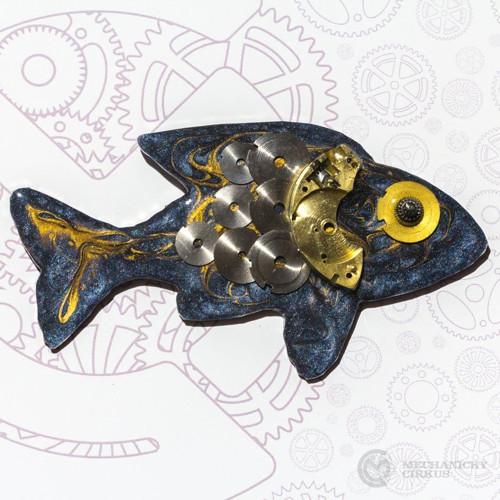 Rybička modro-zlatá