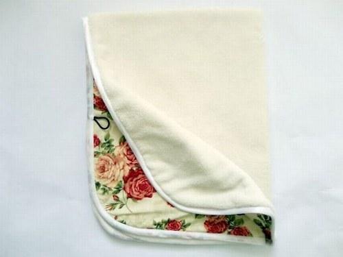 Oboustranná deka Růže - smetanová