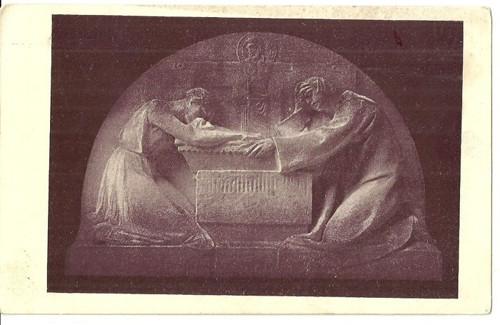 Umělecká pohlednice relief St.Sucharda Pomníček