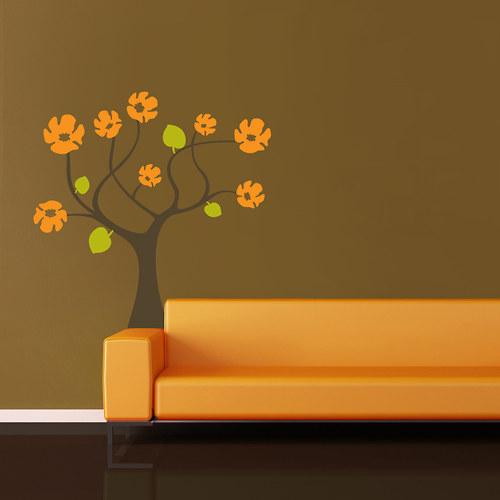 Samolepka  strom s květy